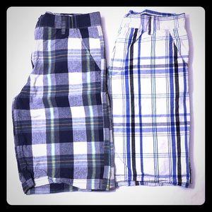 Nike Plaid Flat Front Boys Shorts Bundle Size 14